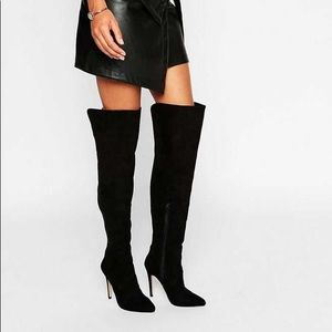 Lipsy Panel Heeled Over The knee boots